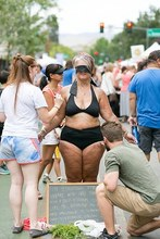 Idaho woman decides to strip down to her underclothing in the public to show self-love.